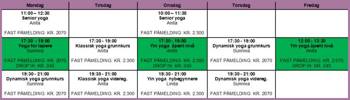 timeplan vår revidert